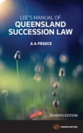 Lee's Manual of Queensland Succession Law