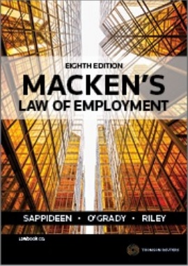 Macken's Law of Employment, 8th Edition