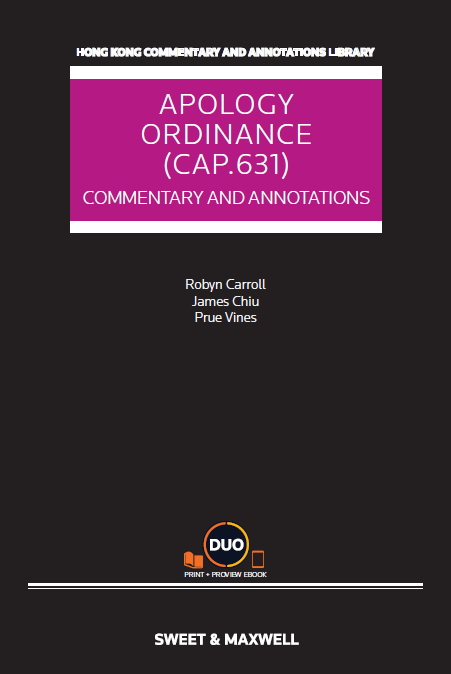 Apology Ordinance (Cap.631): Commentary and Legislation