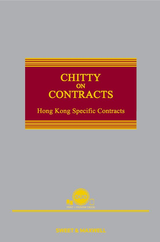 CHITTY ON CONTRACTS, HONG KONG SPECIFIC CONTRACTS, SIXTH EDITION