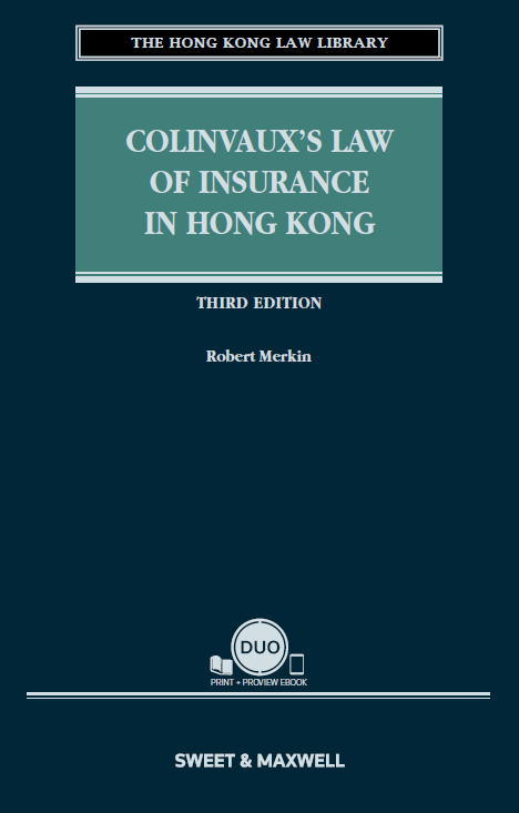 Colinvaux's Law of Insurance in Hong Kong, Third Edition