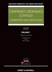 Companies Ordinance (Cap.622): Commentary and Annotations 2021
