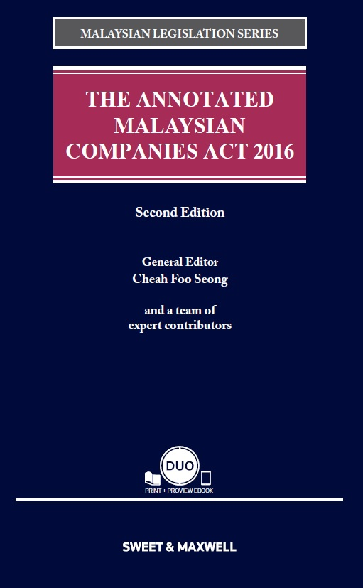 The Annotated Malaysian Companies Act 2016, Second Edition (COMING SOON)
