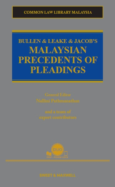 Bullen & Leake & Jacob's Malaysian Precedents of Pleadings