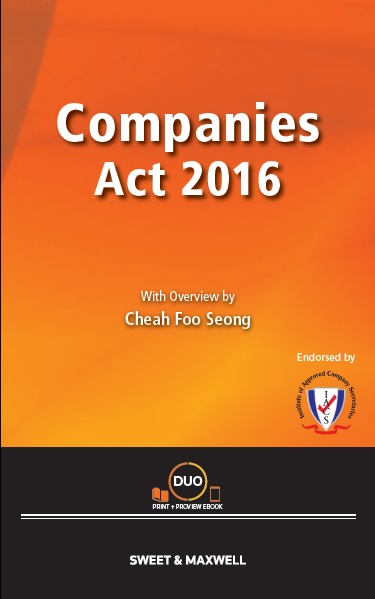 Companies Act 2016 with Overview by Cheah Foo Seong