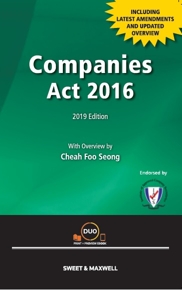 Companies Act 2016 with Overview (2019 Edition)