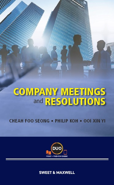 Company Meetings and Resolutions