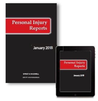 Personal Injury Reports 2019 Subscription (PIR)