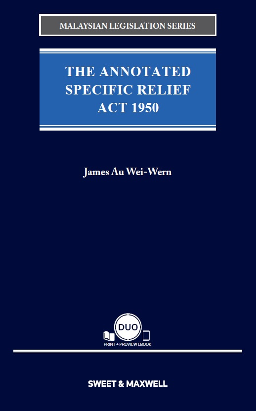 The Annotated Specific Relief Act 1950