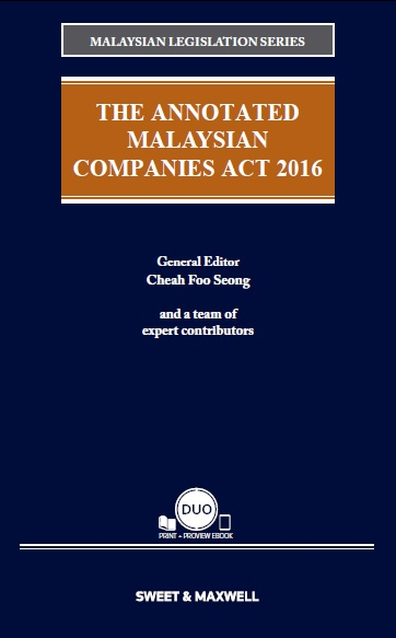 The Annotated Malaysian Companies Act 2016