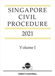 Singapore Civil Procedure 2021