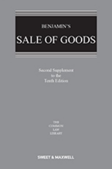 Benjamin's Sale of Goods 10th Edition, 2nd Supplement