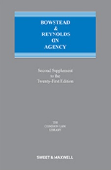 Bowstead and Reynolds on Agency 21st Edition, 2nd Supplement
