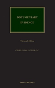 Documentary Evidence, 13Ed
