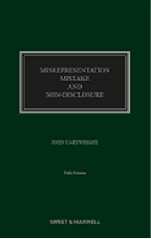 Misrepresentation, Mistake and Non-Disclosure 5th Edition