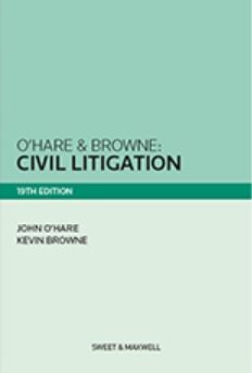 O'Hare & Browne: Civil Litigation 19th Edition